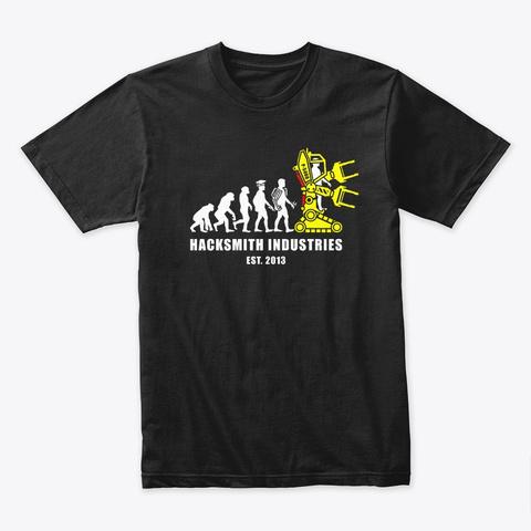 Hacksmith Industries Evolution Black T-Shirt Front