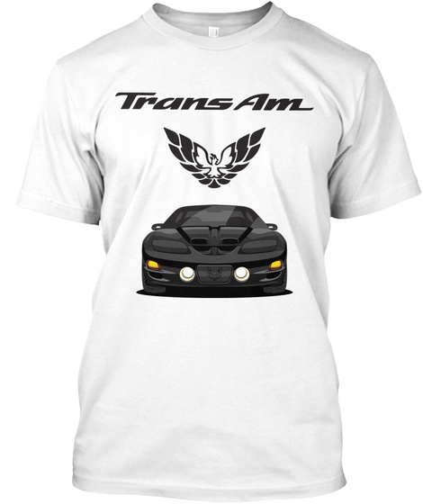 Trans Am White T-Shirt Front