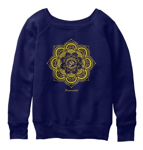 Namaste Navy  T-Shirt Front