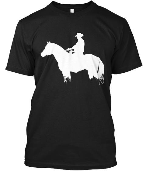 Cowboy Rider Black T-Shirt Front