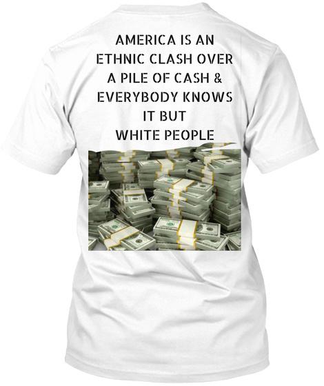 Radcap Ethnic Clash  White T-Shirt Back