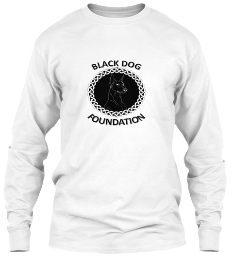 Black Dog Foundation White T-Shirt Front
