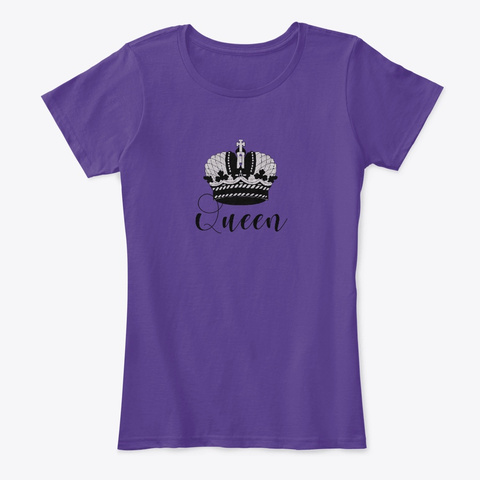Queen   Royality Purple T-Shirt Front
