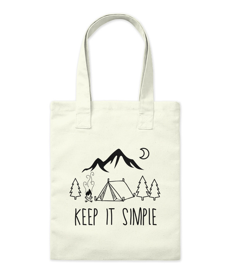 Keep It Simple Natural T-Shirt Front