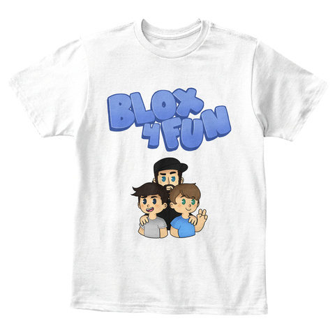 Blox 4 Fun White T-Shirt Front
