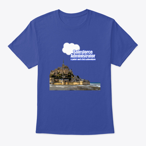 Sf Admin, A Point And Click Adventure Deep Royal T-Shirt Front