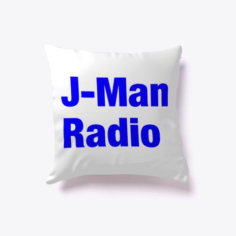 J Man Radio Pillow White T-Shirt Front