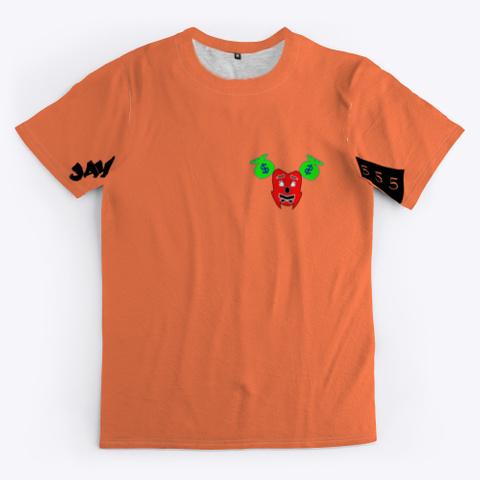 Meditate Kwasi 555 Coral T-Shirt Front