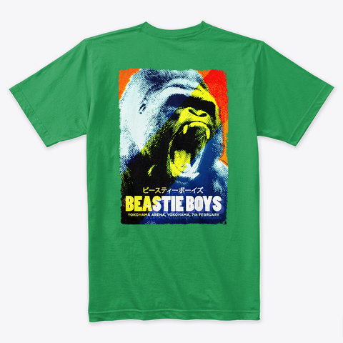 Beastie On Tour Kelly Green T-Shirt Back