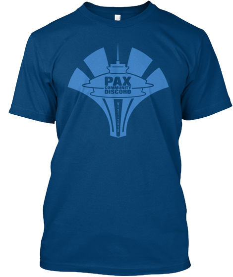 Pax Community Discord Cool Blue T-Shirt Front