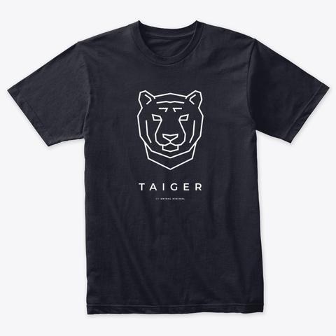Taiger (Minimal Tiger, B) Vintage Navy T-Shirt Front
