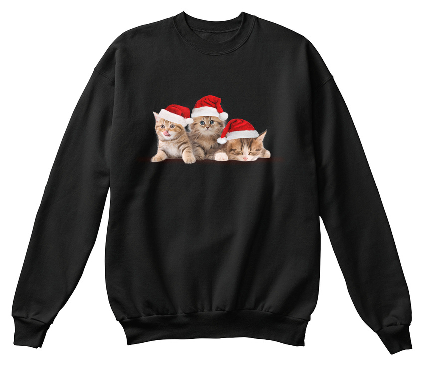 Custom Kitten Cute Cat Christmas Standard Unisex Standard Standard Unisex Unisex Sweatshirt 28e68a