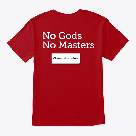 #Ungovernables2020 Tees Deep Red T-Shirt Back