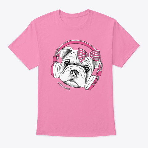 Pinky Pug Tee Pink T-Shirt Front