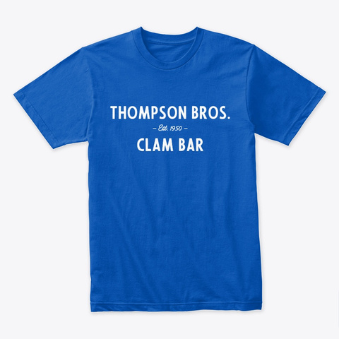 Thompson's Clam Bar Harwich Port White Royal T-Shirt Front