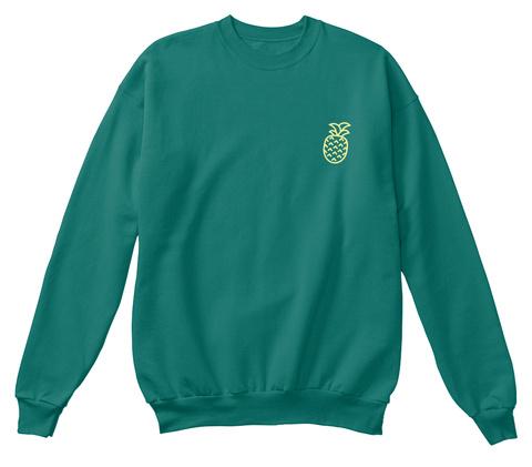 Original 'pineapple' Crewneck Jade T-Shirt Front