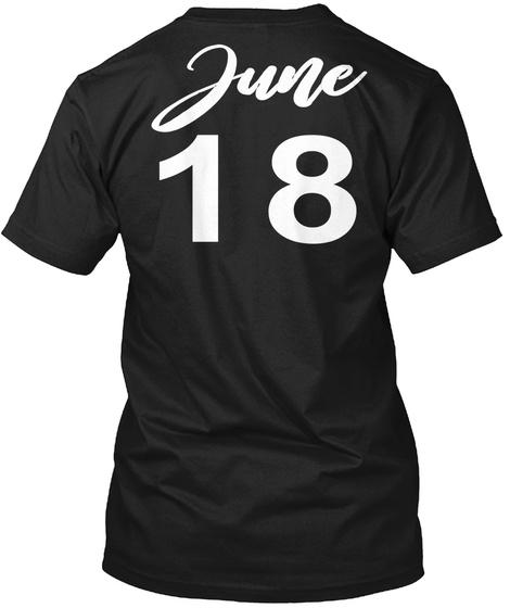 June 18   Gemini Black T-Shirt Back