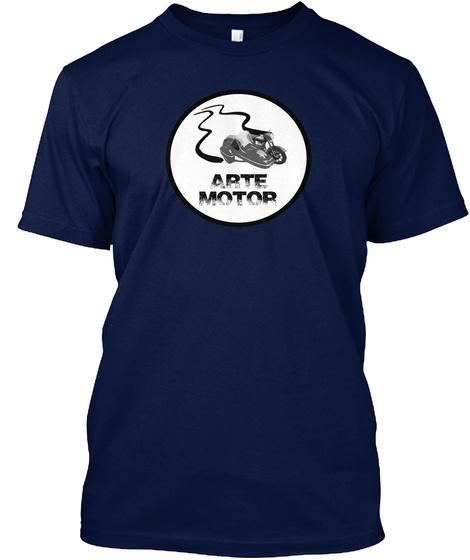 Arte Motor Navy T-Shirt Front