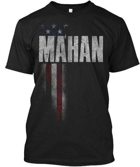 Mahan Family American Flag Black T-Shirt Front
