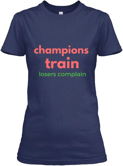 Champion Girls. Navy T-Shirt Front