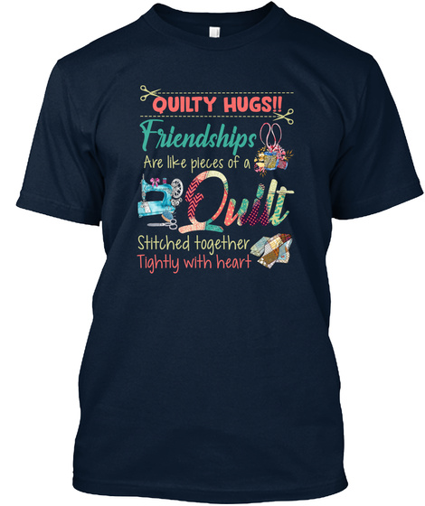 Quilting New Navy T-Shirt Front