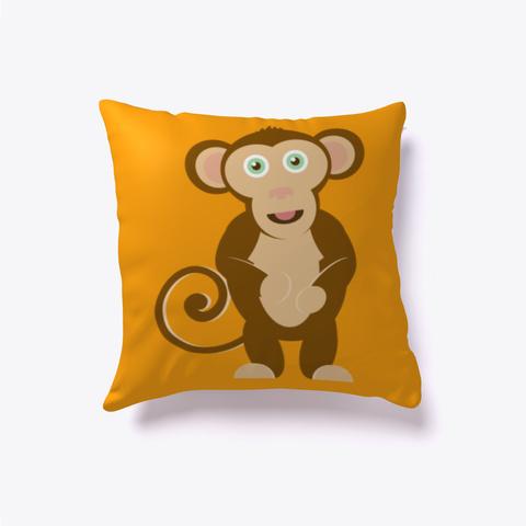 Max Monkey Pillow Orange T-Shirt Front