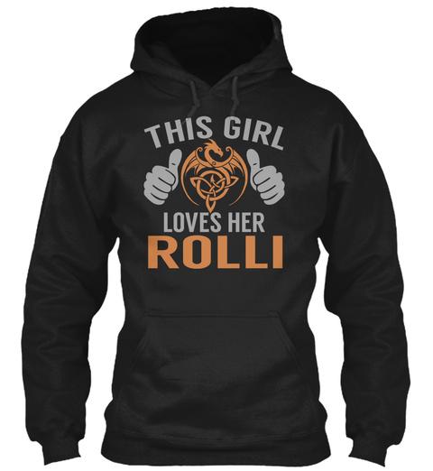Loves Rolli   Name Shirts Black T-Shirt Front