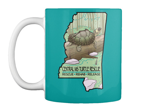 Central Ms Turtle Rescue Rescue Rehab Release Aqua Mug Front