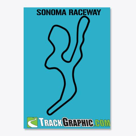 Tg Sonoma Raceway Turquoise T-Shirt Front
