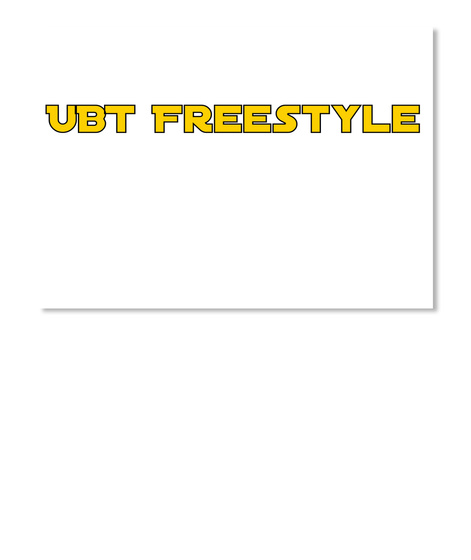 Ubt Freestyle White T-Shirt Front