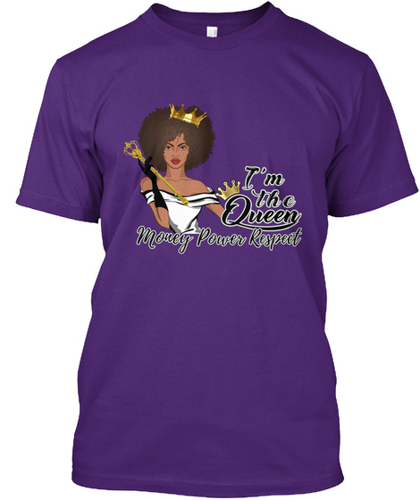 I'm The Queen Purple T-Shirt Front