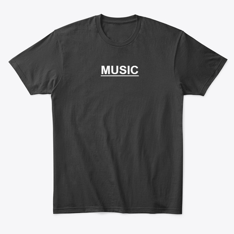 Music (Unisex T Shirt) Black T-Shirt Front
