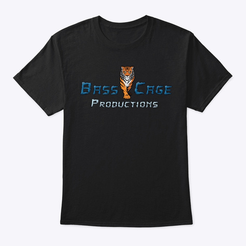 Bass Cage Tiger Black T-Shirt Front