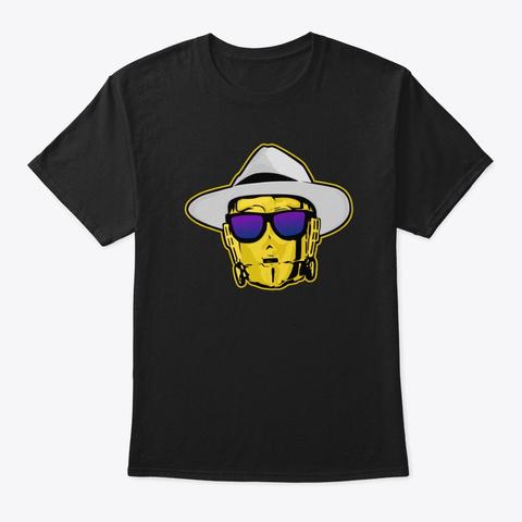 Drunk3po Fedora Style  Black T-Shirt Front