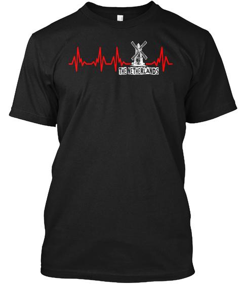 The Netherlands Black T-Shirt Front
