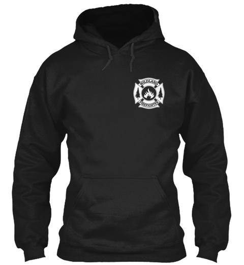 Wildland Firefighter Black T-Shirt Front