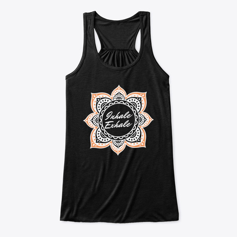 Inhale Exhale Meditate  Black T-Shirt Front