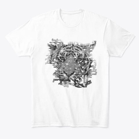 Verbal Tiger White T-Shirt Front
