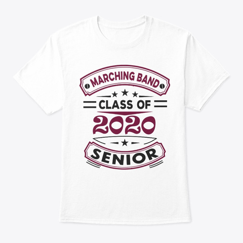 [$15] Class Of 2020   Maroon White T-Shirt Front