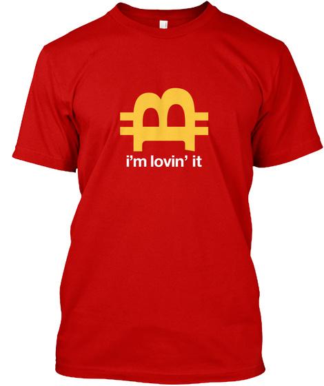 Bitwear   I'm Lovin Btc T Shirt Classic Red T-Shirt Front