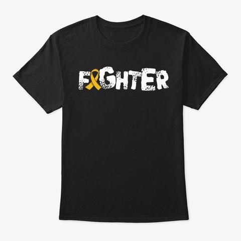 Fighter | Childhood Cancer Awareness Black T-Shirt Front