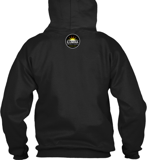 Pulôver De Capuz Namastê Black Sweatshirt Back
