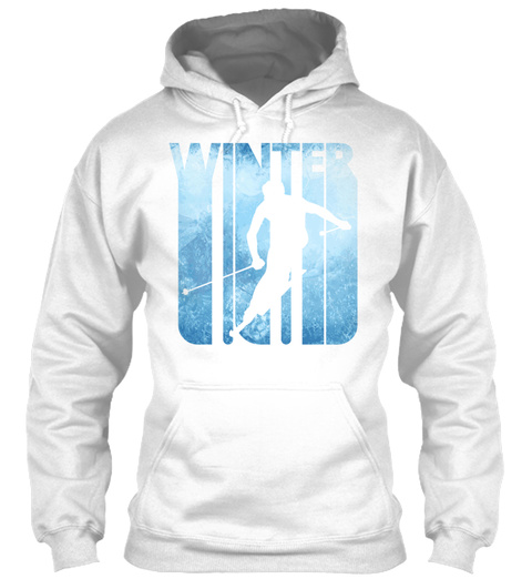 Vintage Winter Holiday Ski Slalom Gifts  White T-Shirt Front