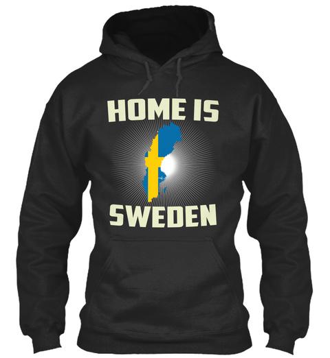 Home Is Sweden Jet Black T-Shirt Front