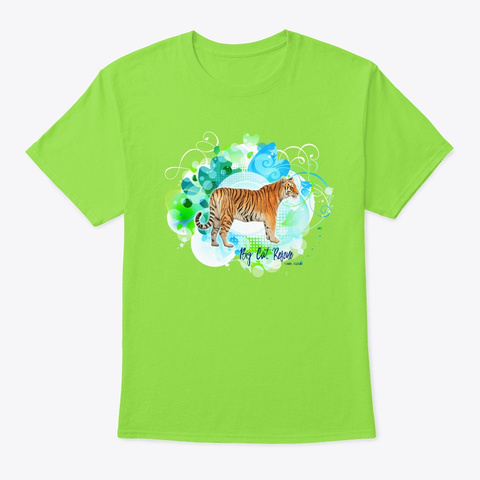 Kali Tiger Popart Lime T-Shirt Front