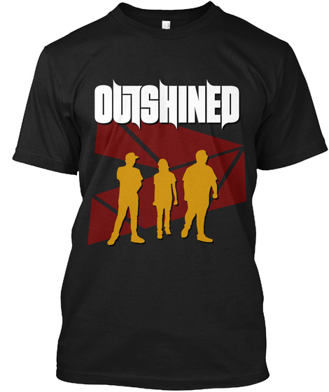 Outshined Band   Promo Shirt Black T-Shirt Front