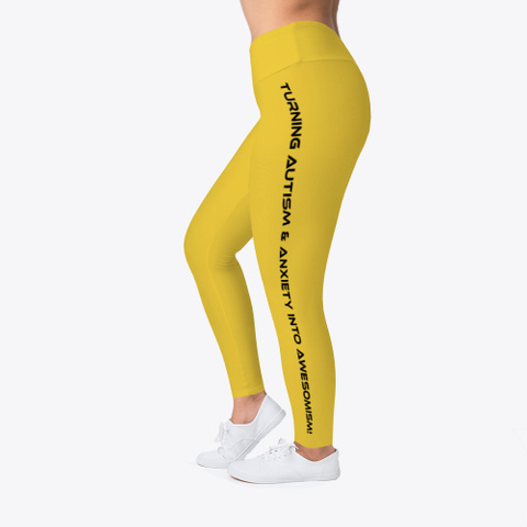 L&L Leggings, Hoodie And I Phone Case Yellow T-Shirt Left