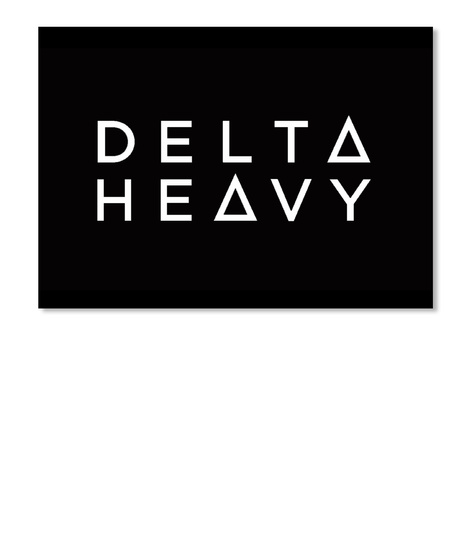 Delta Heavy Logo Sticker Black Sticker Front