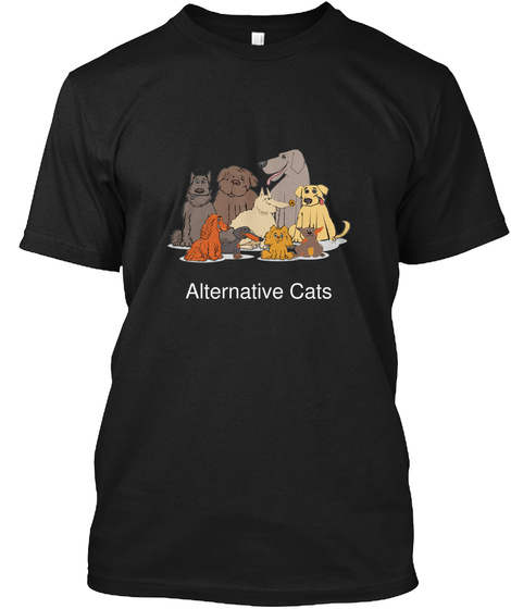 Alternative Cats Black T-Shirt Front