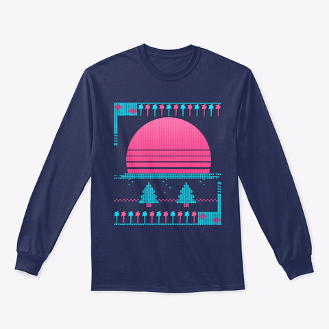 80s Vaporwave Ugly Christmas Sweater Products From Neon Sunset
